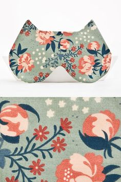 Cat eye mask Sleep Mask Floral pattern by JuliaWine on Etsy  **For cat naps!  #florals  #etsy  #handmade
