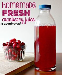 Easy homemade fresh cranberry juice in 20 minutes