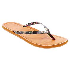 Women's Mad Love Liannie Floral Print Flip Flop Sandals -