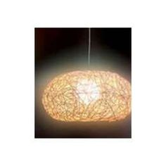 Colgante Mimbre 1 Luz E27 61X61X30Cm Nat