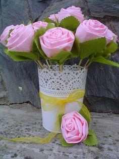 Flores de papel de wc