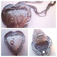 Pirates of the Caribbean calypso Tia Dalma musical locket handmade by 2tinyhearts on Etsy
