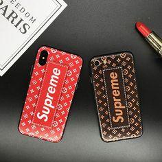 Supreme ブランド シュプリームiphone8 ケース iphoneX カバー シリコン製 個性 ペア物 lv モノグラム アイフォン6splus ルイヴィトン 合作 人気
