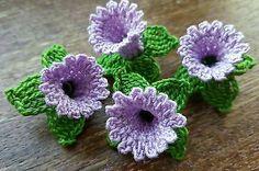 4x LILAC 3D Handmade Crochet Bell Flowers APPLIQUE EMBELLISHMENT in Crafts, Needlecrafts & Yarn, Crocheting & Knitting | eBay!
