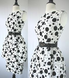Vintage 50s Dress Party Day Bombshell Alfred by swingkatsvintage, $145.00