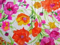 Vintage 60s Hot Pink Mod Fluorescent Flower by CuteBrightFun, $28.00