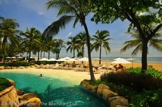 Takiab Beach, Hua Hin, Thailand; this small artificial beach lies close to the real one at Hyatt Regency Hua Hin.