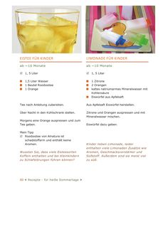 Eistee und Limonade für die Kleinsten