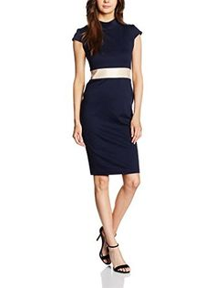 MAIOCCI Kleid (blau/beige)