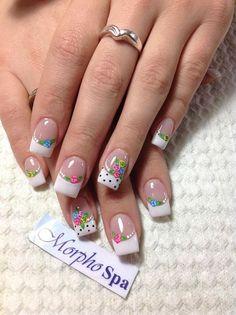 cute nail art, how to do nails Pretty Nail Colors, Pretty Nail Designs, Pretty Nails, Nail Art Designs, Nails Design, Fabulous Nails, Gorgeous Nails, Cute Nail Art, Cute Nails