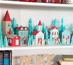 This tiny village scene will bring a touch of character to your shelves this holiday!