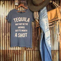 The {favorite} Tequila tee is back #cheerstotheweekend #graphictee #love #savannah7s