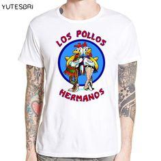 fffbd57a4ec7 Pas cher Mode de Los Pollos Hermanos T shirt Hommes de Breaking Bad  Brothers Poulet T
