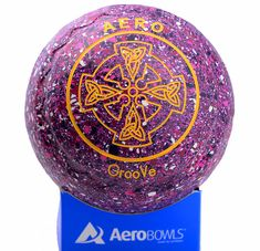 Aero GrooVe lawn bowl with Celtic cross logo in new Carnival color.