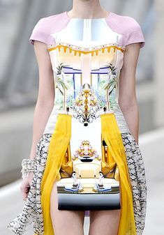 Photographic Prints - home decor meets fashion design; digital mirror print dress // Mary Katrantzou