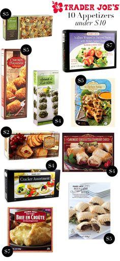 10 Trader Joe's Appetizers under $10