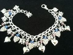 I SEE HEAVEN IN YOUR EYES Charm Bracelet, BEAUTIFUL!!