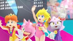 Mario and Sonic | Mario & Sonic at The London 2012 Olympic Games - Daisy, Peach, Blaze y ...