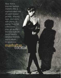 """Manhattan Cocktail"" Patricia Hartmann by Gilles Bensimon"