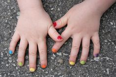 I used to beg for tanya to paint my nails like this! that way they matched every outfit( i was under 5, ok)