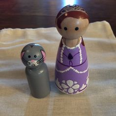Sofia the First Pegs by TurtlesTiaras on Etsy