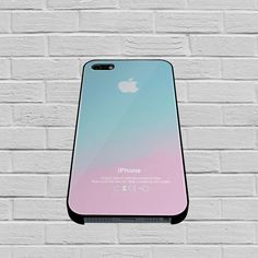 Apple Logo Pink Aqua Teal Pastel case for iPhone, iPod, Samsung Galaxy, HTC One, Nexus