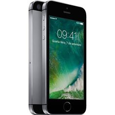 "iPhone 5S Apple com 16GB, Tela 4"", iOS 8, Touch ID, Câmera 8MP, Wi-Fi, 3G/4G, GPS, MP3 e Bluetooth, Cinza Espacial - App"