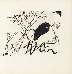 Vasily Kandinsky (French, born Russia. 1866–1944) Black Spot (Schwarzer Fleck) (plate, folio 33) from Klänge (Sounds) 1913, Woodcut from an illustrated book with fifty-six woodcuts