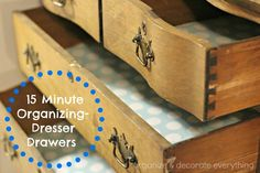 Day 2: 31 Days of 15 Minute Organizing Dresser Drawers, by Organize Your Stuff Now