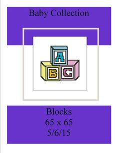 Looking for your next project? You're going to love Baby Collection Blocks  by designer Shell Cox. - via @Craftsy
