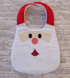 Santa baby bib by unfilotiralaltro on Etsy                                                                                                                                                     Más