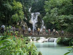 Luang Prabang, Laos, Waterfall, Travel, Outdoor, Outdoors, Viajes, Trips, Outdoor Living