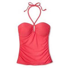 Women's Shirred Center Halter Tankini Top - Merona™ : Target