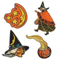 Witch, Moon & Pumpkin Cutouts