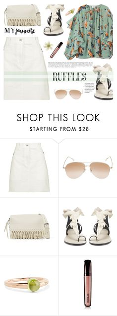 """""""Add Some Flair: Ruffled Tops"""" by joliedy ❤ liked on Polyvore featuring rag & bone, Kyme, 3.1 Phillip Lim, Isabel Marant, Pomellato, Hourglass Cosmetics and Clips"""