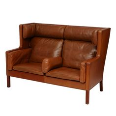 evergreen antiques - borge morgensen leather settee