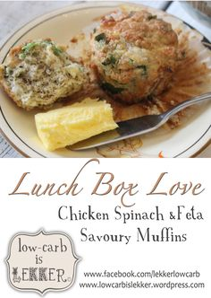 Chicken Spinach and Feta muffins. Banting Diet, Banting Recipes, Low Carb Recipes, Whole Food Recipes, Dukan Diet, Paleo Recipes, Spinach Stuffed Mushrooms, Spinach Stuffed Chicken, Spinach And Feta Muffins