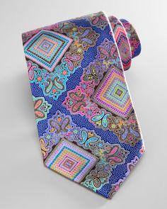 Ermenegildo Zegna Venticinque Silk Tie, Blue