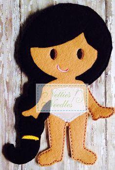 Jasmine Felt Doll by NettiesNeedlesToo on Etsy, $7.00