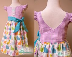 READY TO SHIP Easter toddler girls wrap by RedCloverRedClover
