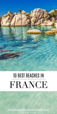France has been blessed with a staggering variety of beaches and here are 10 of the most beautiful. There's something for everyone here, from big sandy beaches on the Atlantic Coast to chi-chi beach resorts along the French Riviera, Corsican stunners, and Nice, South Of France, Provence France, Antibes France, Aix En Provence, Paris France, Places To Travel, Places To See, Travel Destinations