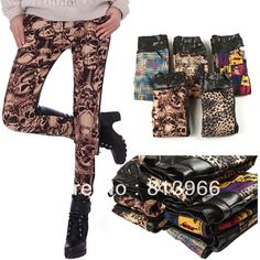 2013 New Fashion Velvet Thicken Leather Leopard Print Patchwork Slim Leggings LG18-inSocks  Hosiery from Apparel  Accessories on Aliexpress.com $13.99