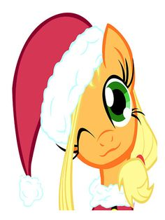 """My Little Pony Friendship is Magic Santa Apple Jack"" by cyberwolf247 
