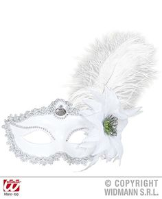 Here at PartyWorld, we have a wide variety of Elegant Masquerade Masks. Elegant Masquerade Mask, Costume Shop, White Feathers, White Flowers, Shoe Bag, Silver, Accessories, Beauty, Juliette