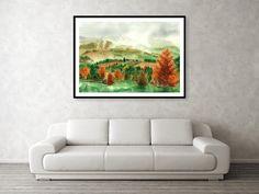 Transylvanian Autumn Framed Print by Olivia C