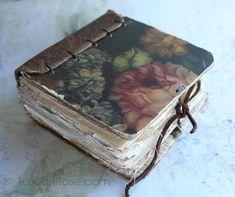 Journal inspiration and eye candy - Rambling Rose - typepad blog. Little chunky rose book