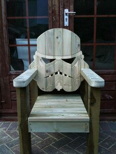 Wooden Stormtrooper Deck Chair. Want! Need!!