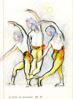 Ballettstudie/Farbstift ©Tobias Windlinger
