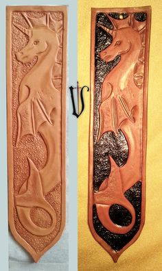 Leather tooled bookmark by me (Volarica)