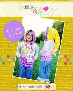 Trista's Knit Pixie T-shirt PDF Pattern sizes by CreateKidsCouture